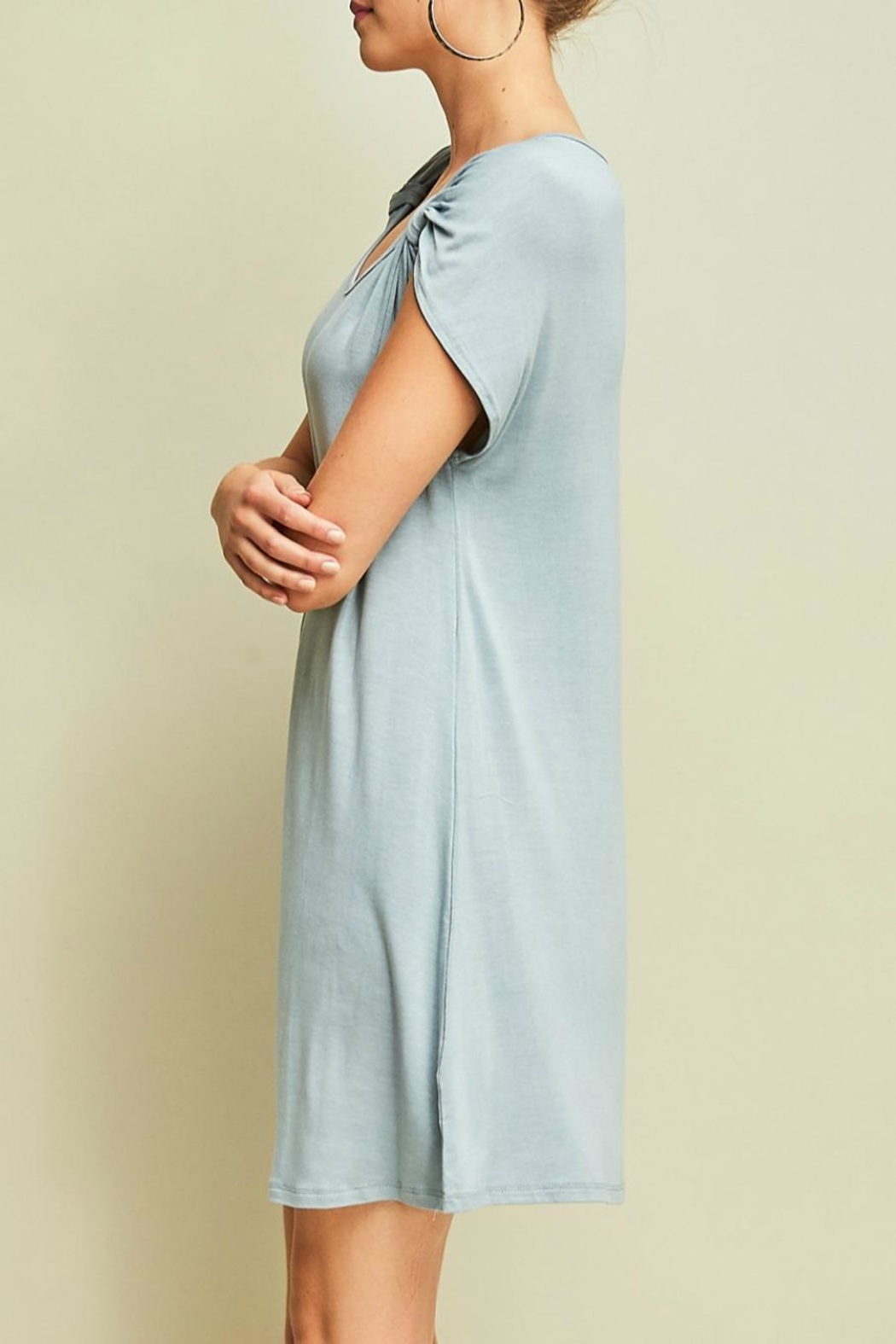 Entro Jersey Shift Dress - Front Full Image
