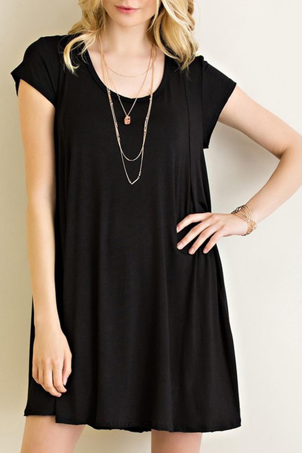 Entro Knit Trapeze Dress - Front Cropped Image