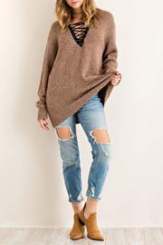 Entro Lace Front Sweater - Product Mini Image