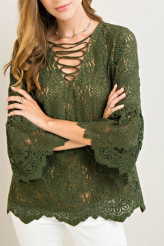 Entro Lace Green Top - Product List Image