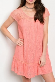 Entro Lace Tunic Dress - Product Mini Image
