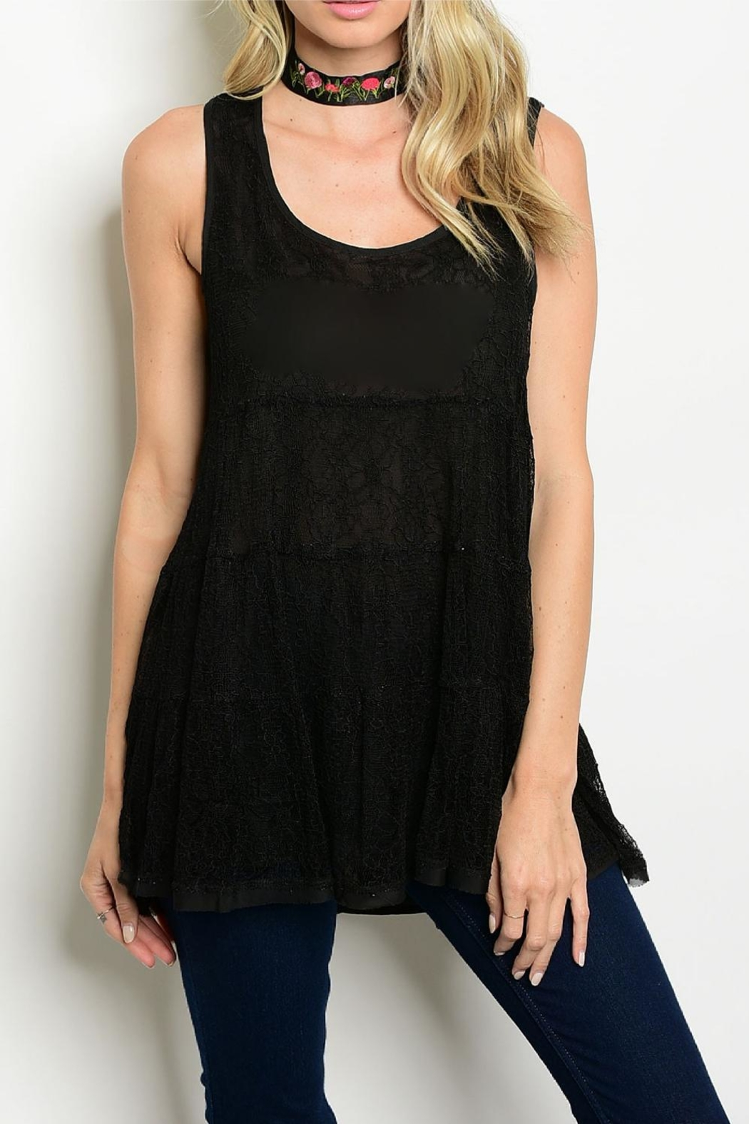 Entro Lace Tunic Tank - Front Cropped Image
