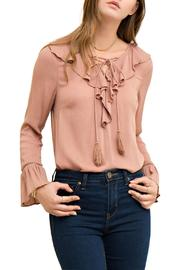 Entro Lace Up Blouse - Product Mini Image