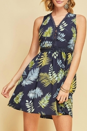Entro Lace Up Dress - Front full body