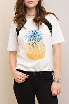 Shoptiques Product: Lace Up Pineapple Tee