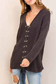 Entro Lace Up Sweater - Front full body