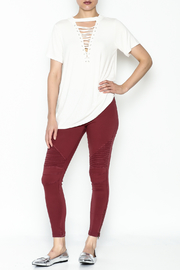 Entro Lace Up Tee - Side cropped