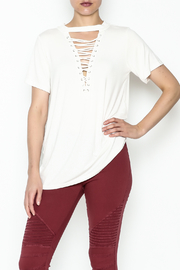 Entro Lace Up Tee - Front cropped