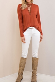 Entro Lace Up Top - Front cropped
