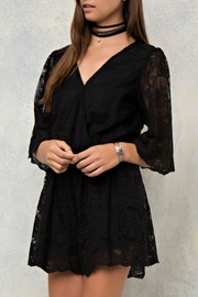 Entro Lace Wrap Romper - Product Mini Image