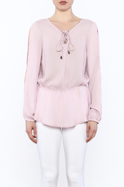 Entro Laced Up Blouse - Front full body