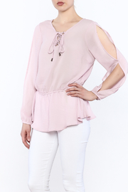 Entro Laced Up Blouse - Product Mini Image