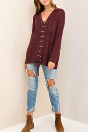 Entro Laced Up Sweater - Front cropped