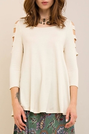Entro Ladder Sleeve Top - Front full body