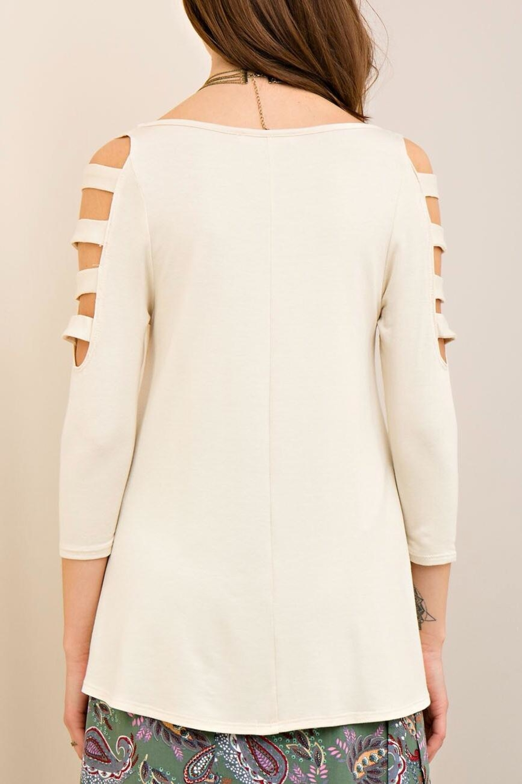 Entro Ladder Sleeve Top - Side Cropped Image