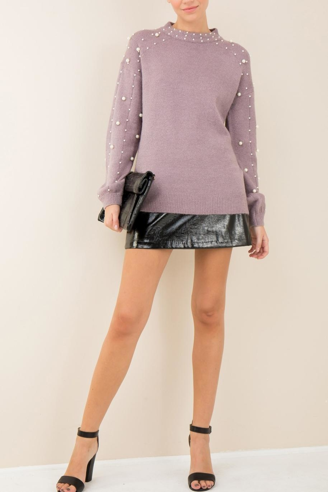 Entro Lavender Pearl Sweater - Main Image