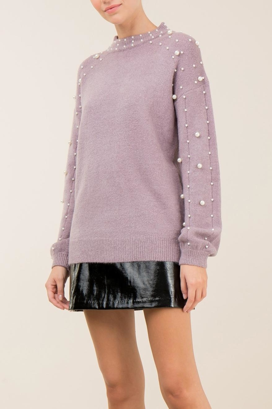 Entro Lavender Pearl Sweater - Front Full Image