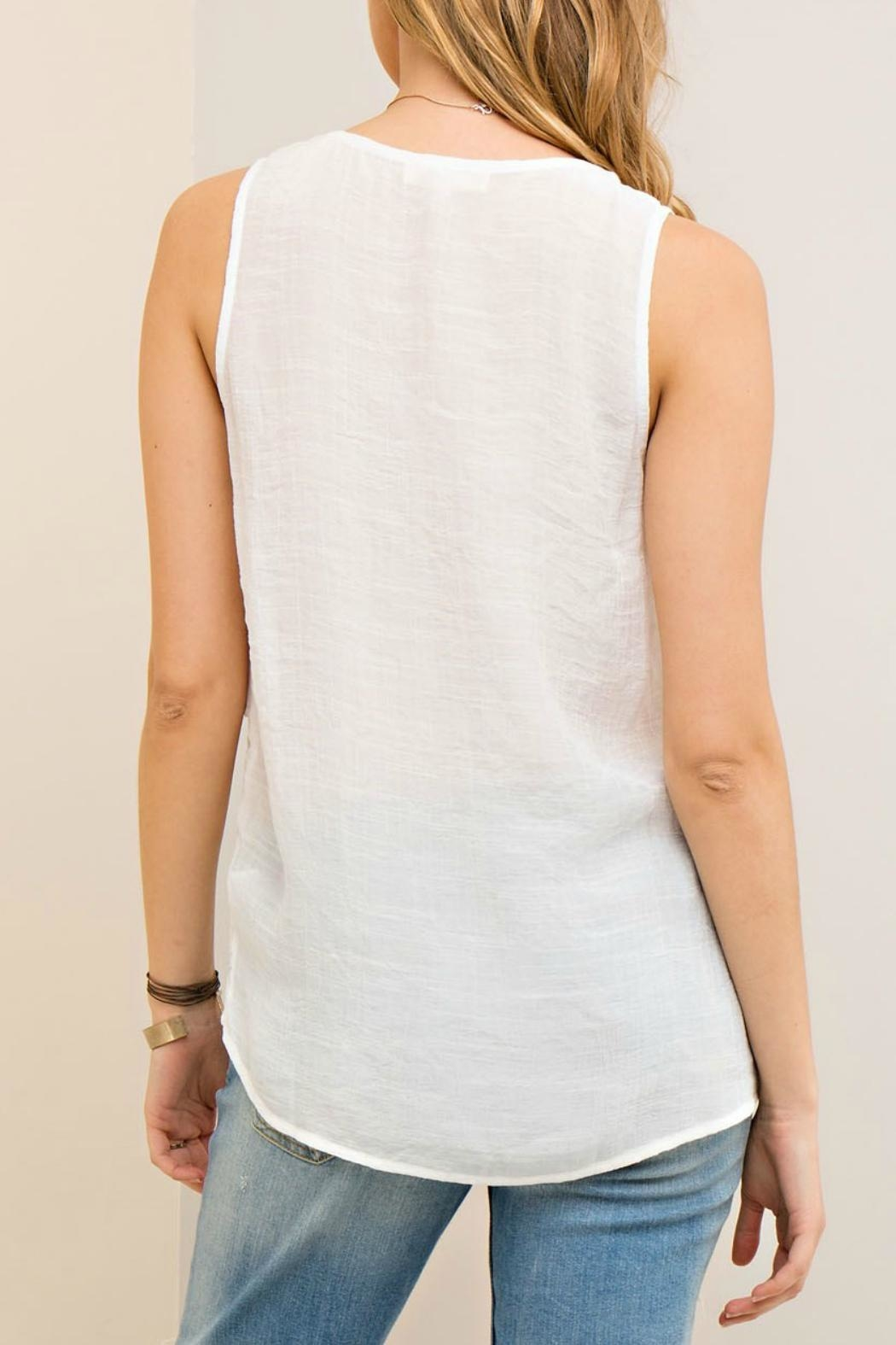 Entro Layered Lace Tank - Front Full Image
