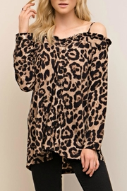 Entro Leopard Print Top - Product Mini Image