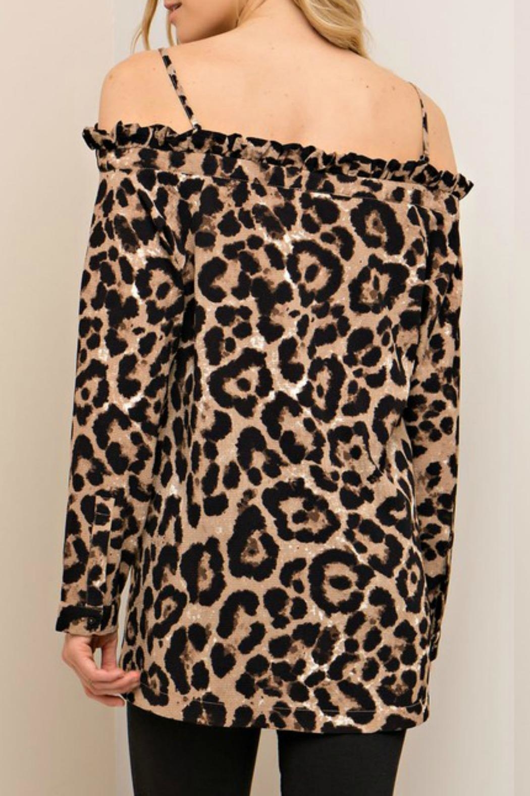 Entro Leopard Print Top - Front Full Image