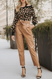 Entro Leopard Print Sweater - Front full body