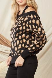 Entro Leopard Print Sweater - Side cropped