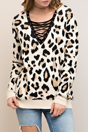 Entro Leopard Print Sweater - Product Mini Image