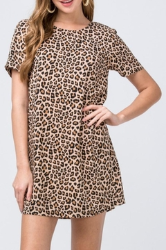 Entro Leopard Shift Dress - Product List Image