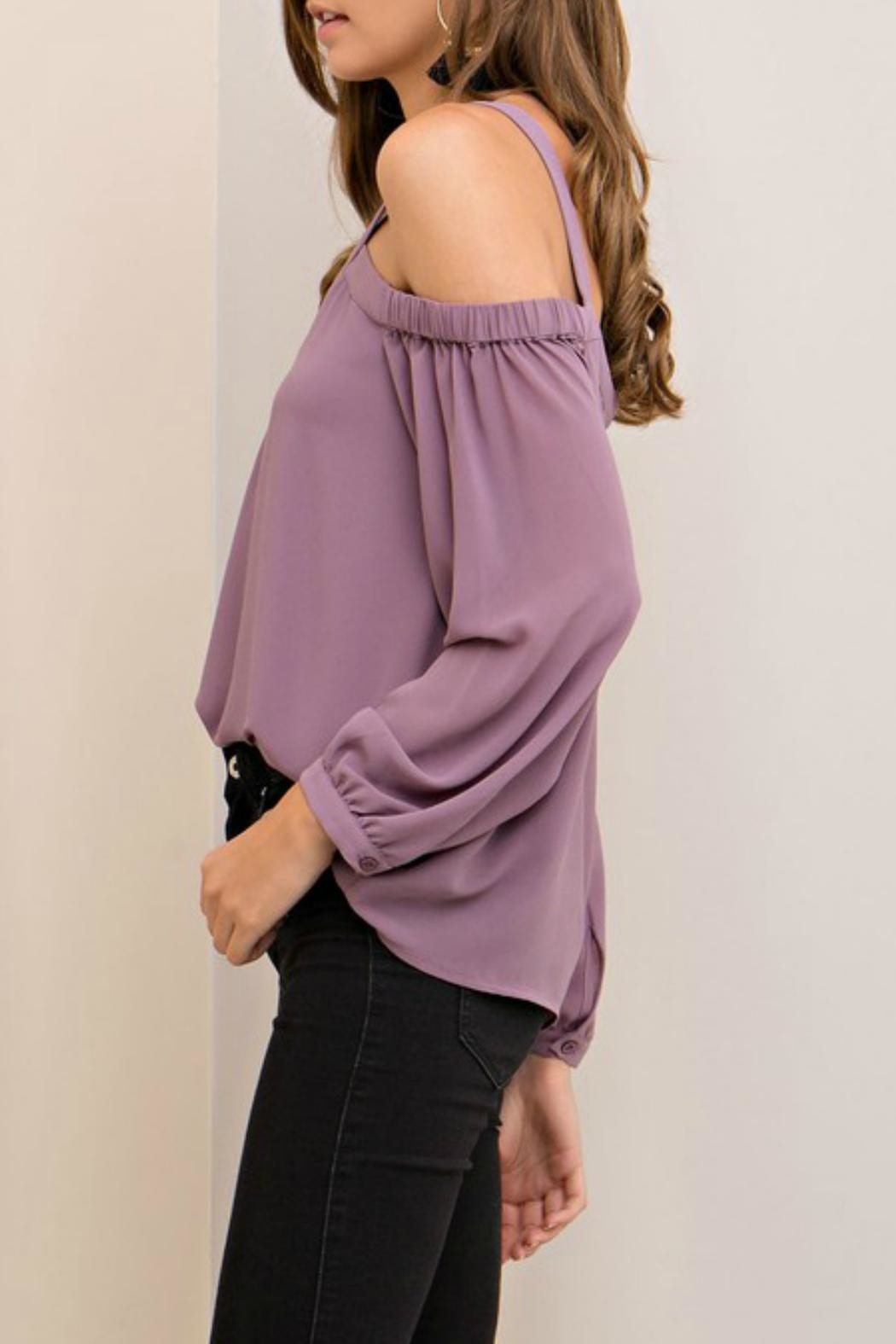 Entro Lilac Cutout Top - Front Full Image