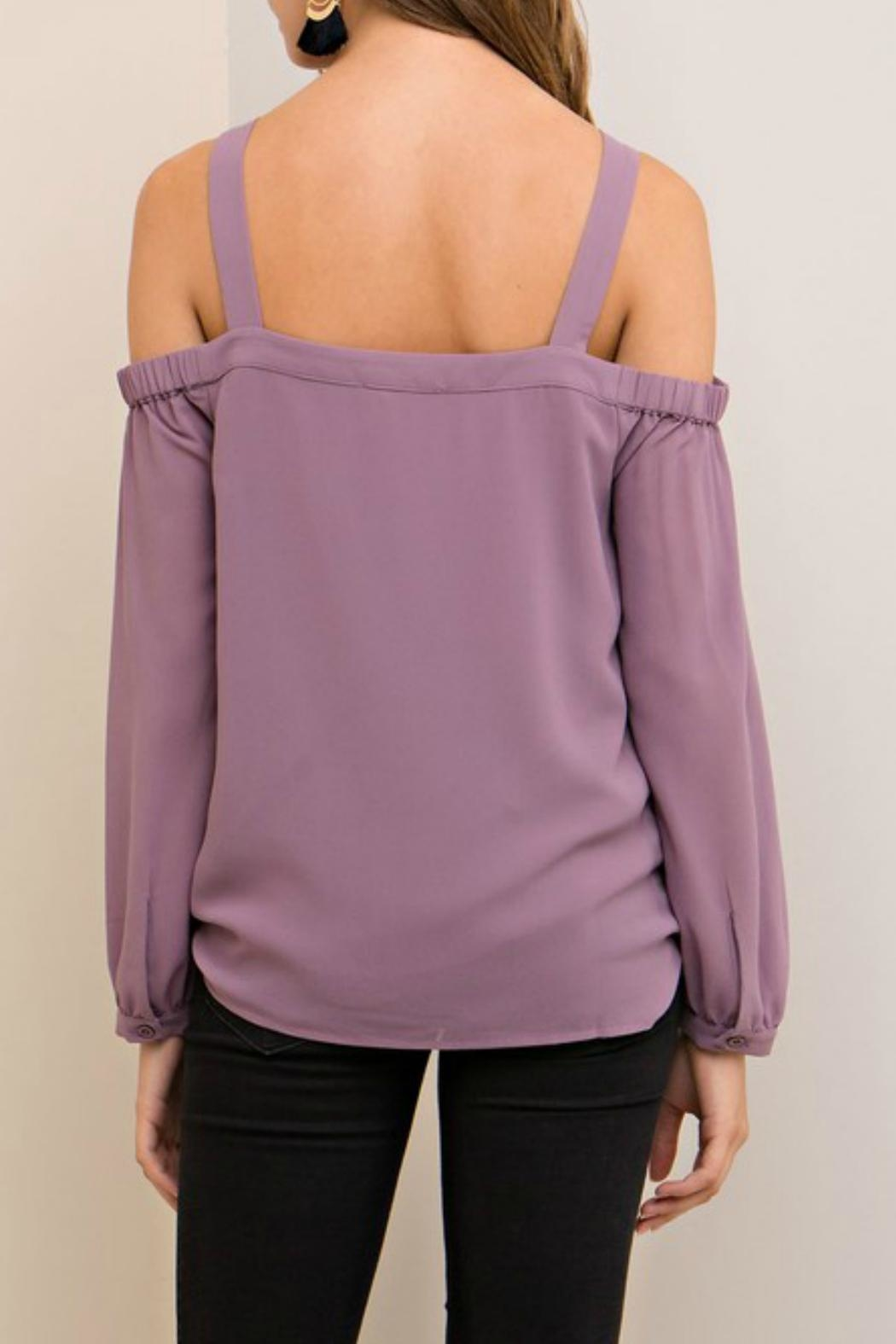 Entro Lilac Cutout Top - Side Cropped Image