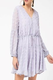 Entro Lilac Dotted Dress - Product Mini Image