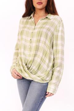 Shoptiques Product: Lime Green Flannel