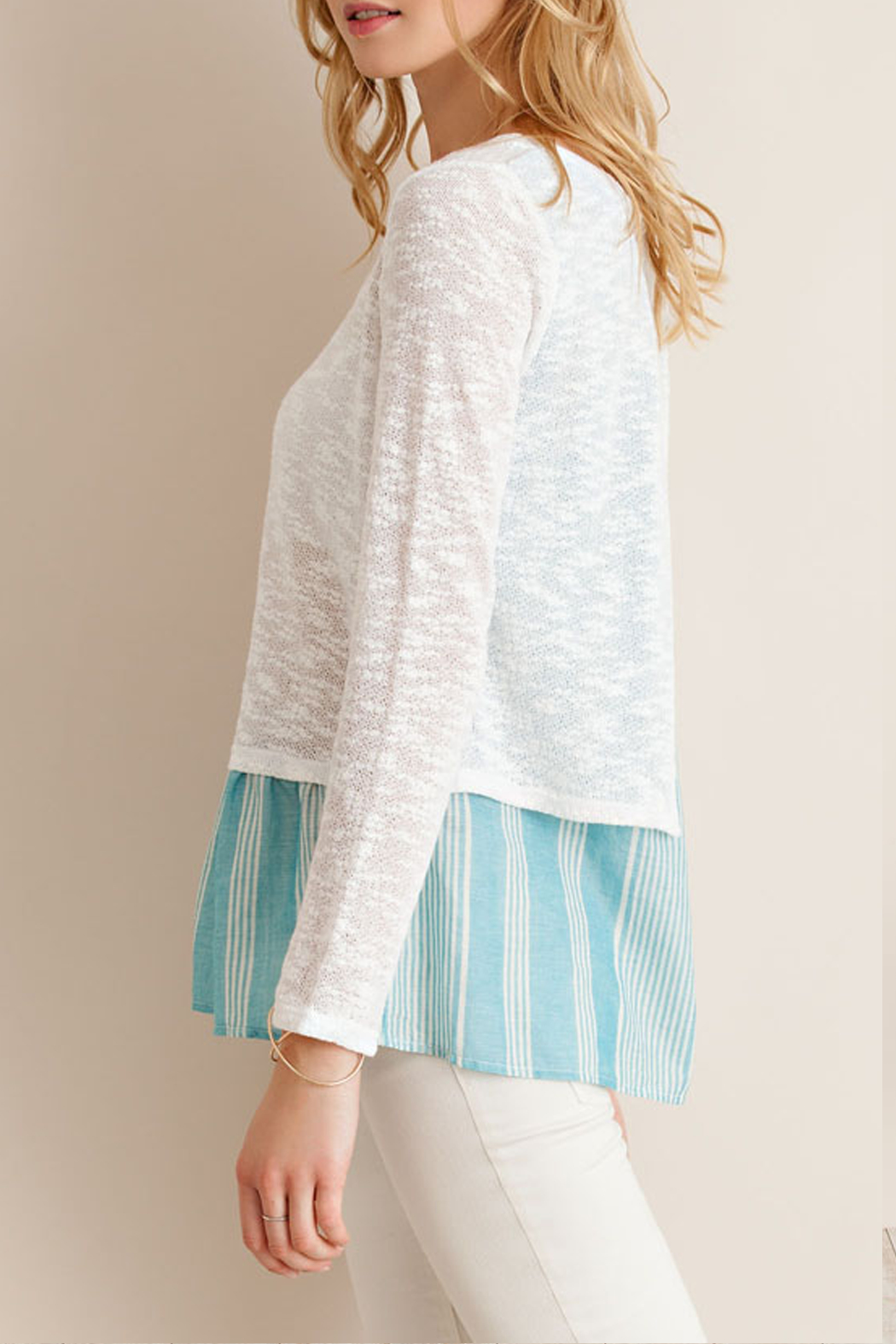 Entro Back Tie Sleeve Top - Side Cropped Image