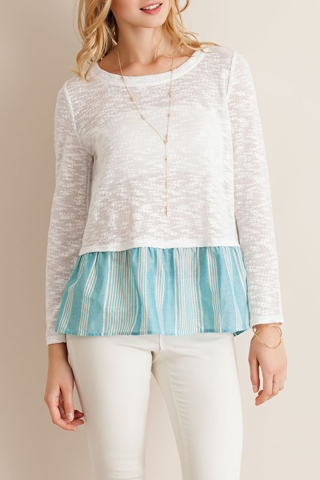 Entro Back Tie Sleeve Top - Main Image