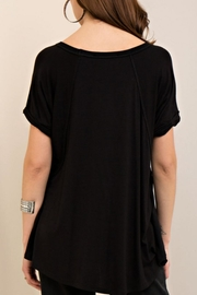 Entro Loop Cut V-Neck Tee - Front full body
