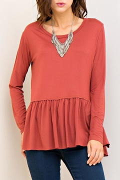 Shoptiques Product: Marsala Peplum Top