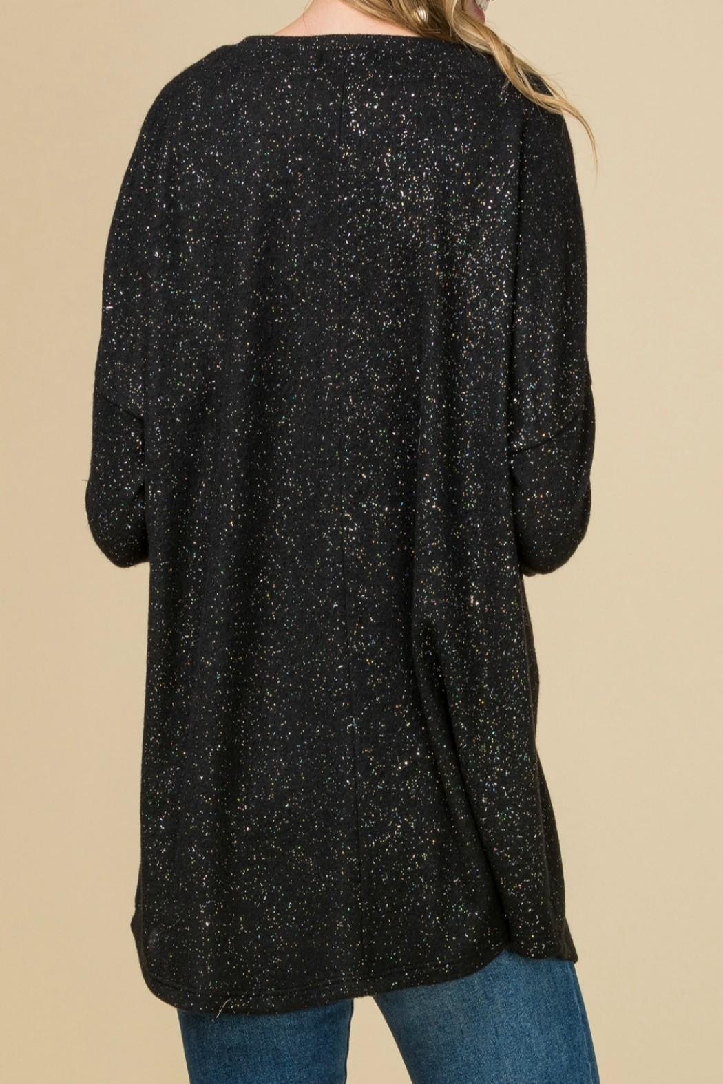 Entro Metallic Speckled Top - Front Full Image