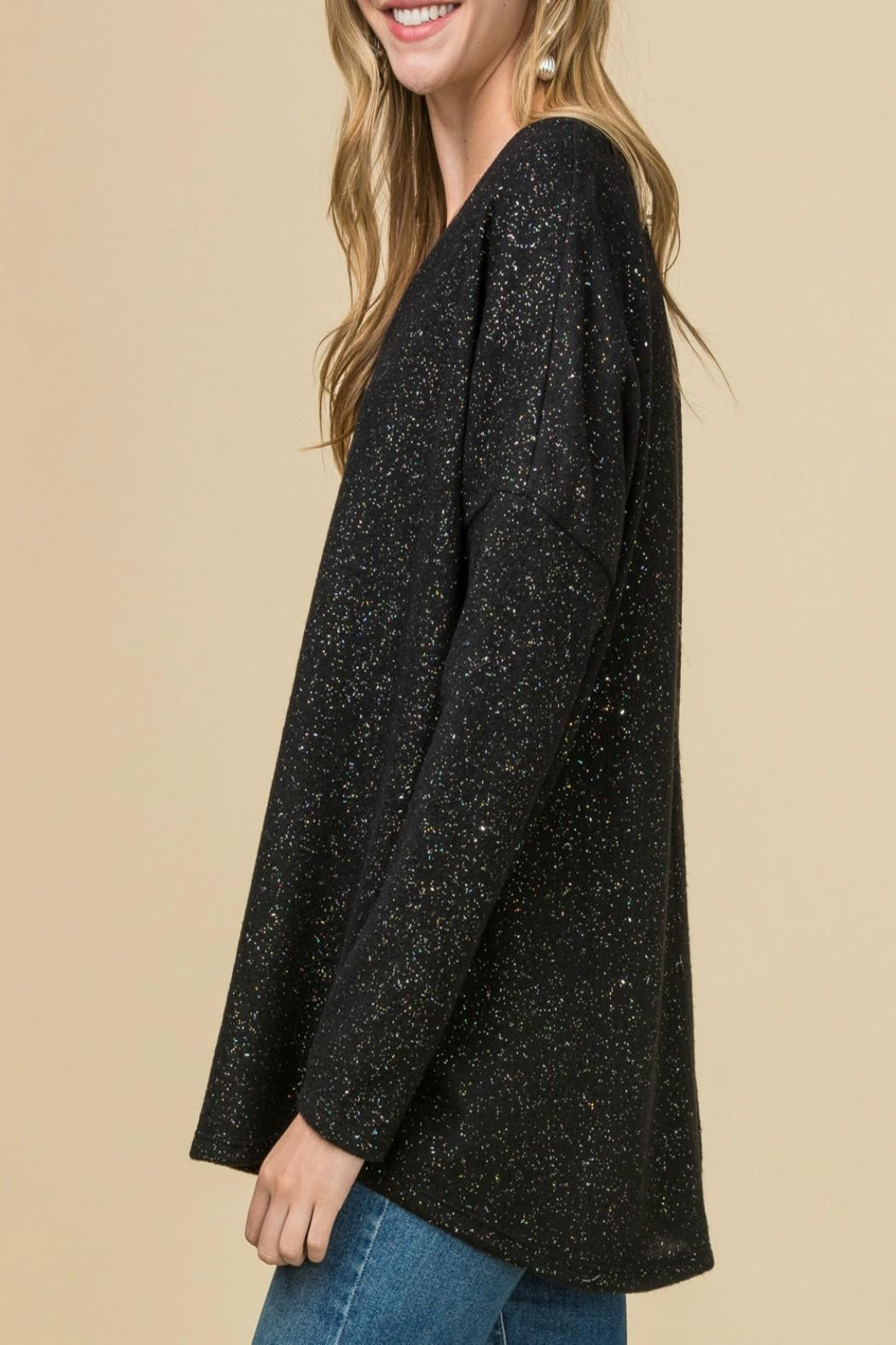 Entro Metallic Speckled Top - Side Cropped Image