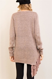 Entro Mocha Asymmetrical Sweater - Front full body