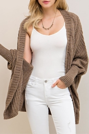 Entro Mocha Open Cardigan - Front full body