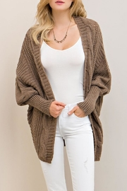 Entro Mocha Open Cardigan - Product Mini Image