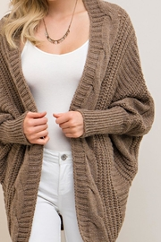 Entro Mocha Open Cardigan - Other