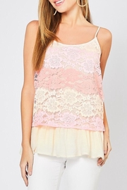 Entro Multi-Color Lace Top - Product Mini Image