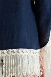 Entro Navy Embroidered Tunic - Back cropped