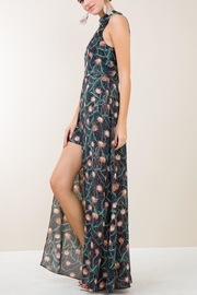 Entro Navy Floral Maxi - Front full body