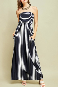 Entro Navy Striped Maxi - Product List Image