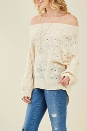 Entro Off-Shoulder Knit Sweater - Front full body