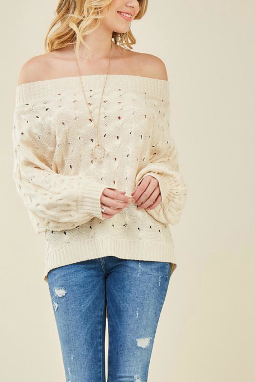 Entro Off-Shoulder Knit Sweater - Main Image