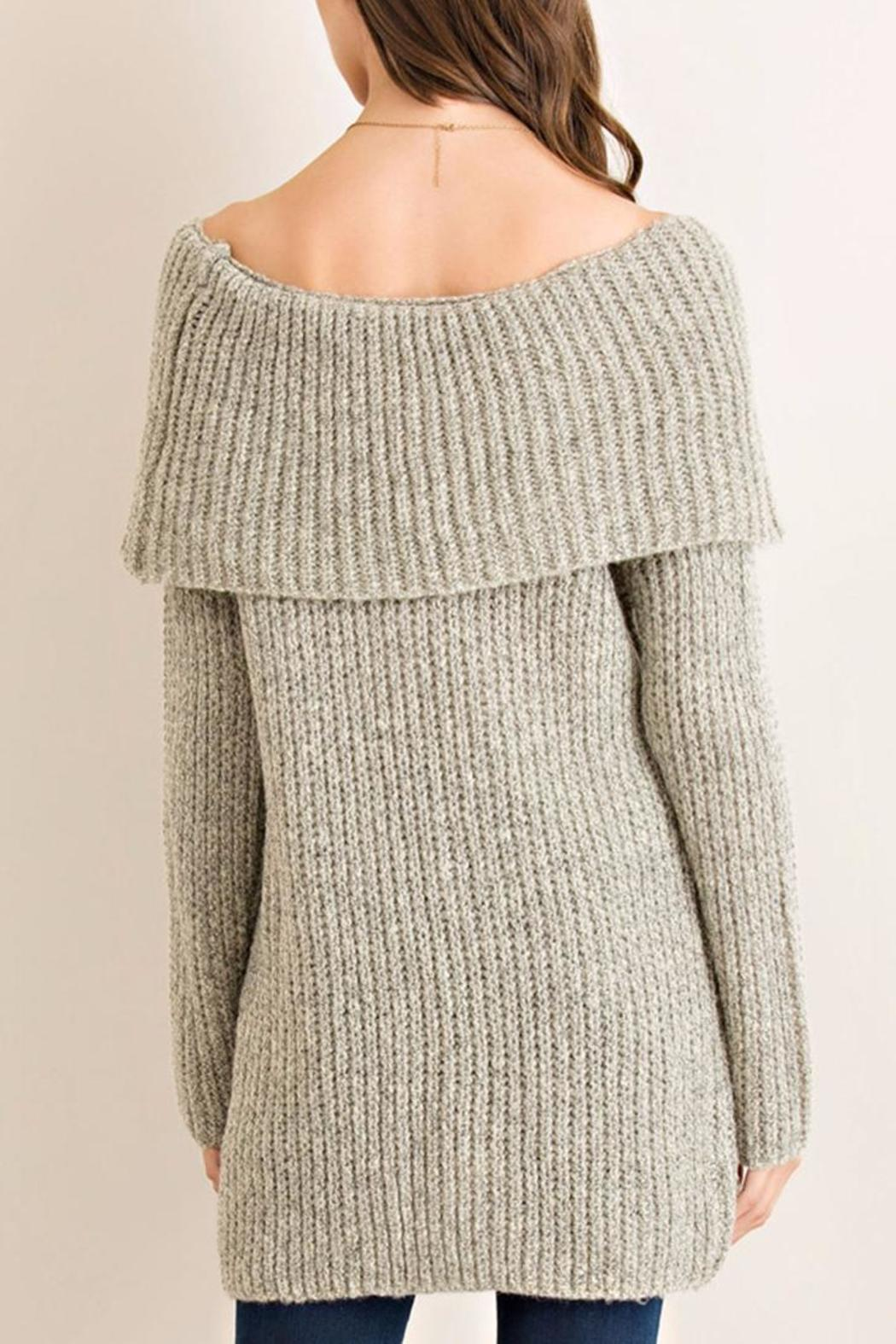Entro Off-Shoulder Tunic Sweater from Virginia by mod&soul ...