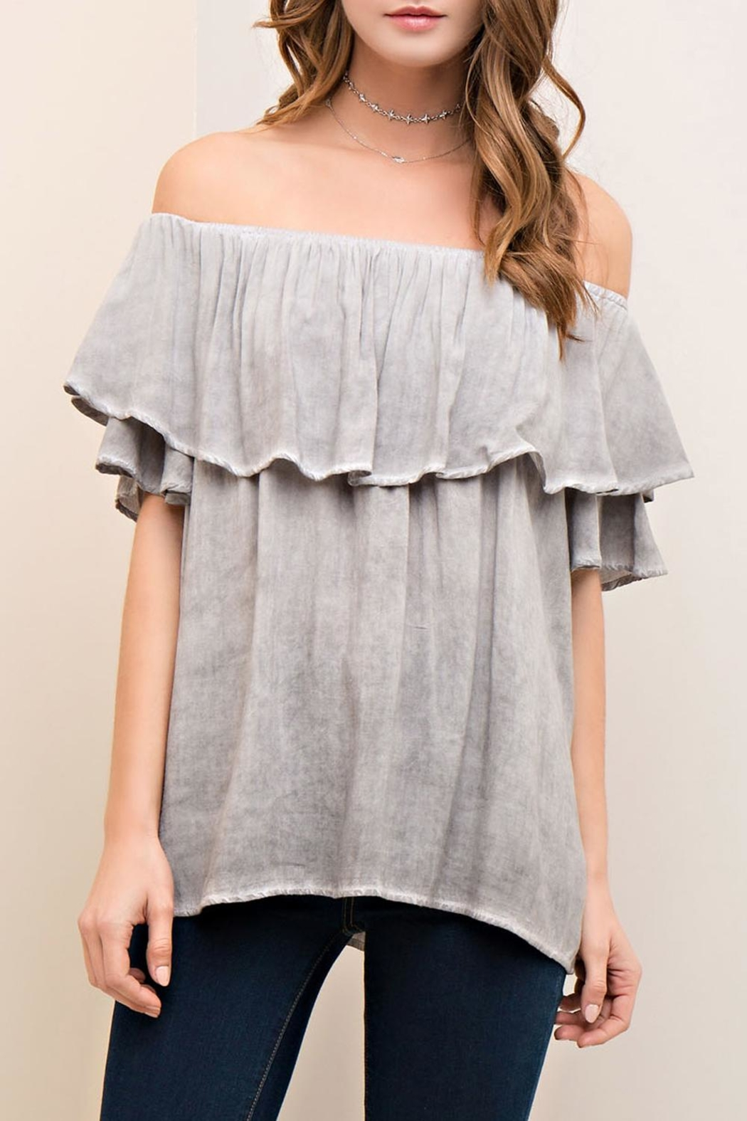 Entro Off-The-Shoulder Ruffle Top - Main Image